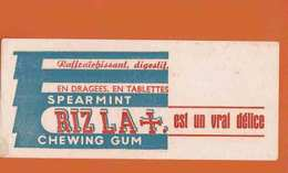 BUVARD / BLOTTER :  RIZ LA +   Est Un Vrai Delice Chewing Gum - Cake & Candy