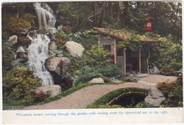 Miniature Stream Running Through The Garden With Waiting Room For Ceremonial Tea On The Right  - (Japan) - Japan