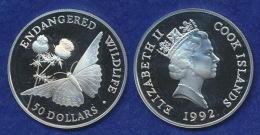 Cook-Islands 50 Dollar 1992 Kaisermantel Ag925 - Islas Cook