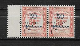 Colonie Maroc Taxe De 1915 N°26 En Paire Neuf * - Marruecos (1891-1956)