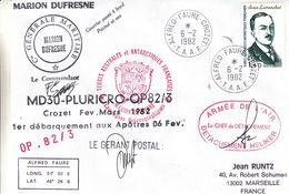 France - Lettre Maritime De 1982 - Oblit Alfred Faure - Exp Vers Marseille - Différents Cachets Et Signatures - Cartas