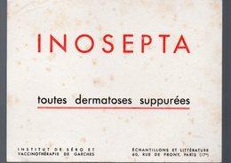 Paris Rue De Prony : Buvard INOPSEPTA  (pharmacie) (PPP9201) - Chemist's