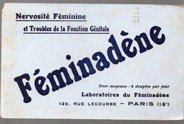 Paris Rue Lecourbe : Buvard FEMINADENE (pharmacie) (PPP9202) - Chemist's