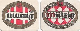 2 SOUS-BOCKS - MÜTZIG (Bière De France) Bière D'Alsace, Neufs. - Sous-bocks