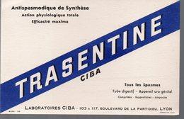 Lyon (69 Rhône) Buvard TRASENTINE CIBA (pharmacie)   (PPP9203) - Chemist's