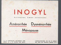 Paris Rue De Prony : Buvardb INOGYL (pharmacie) (PPP9206) - Chemist's