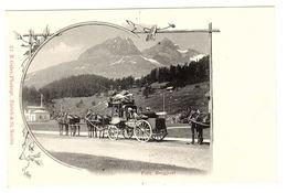 Eidg. Bergpost - MALLEPOSTE - DILIGENCE POSTALE - ATTELAGE - CHEVAUX - Ed. R. Guler, Zürich - ZH Zurich