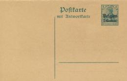 Landespost In Belgien Ganzsache P4 F/A * - Besetzungen 1914-18