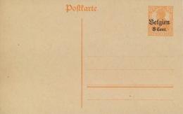 Landespost In Belgien Ganzsache P10I * - Besetzungen 1914-18