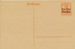 Deutsche Post In Polen Ganzsache P5 * - Besetzungen 1914-18