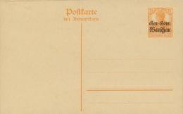 Deutsche Post In Polen Ganzsache P7 F/A * - Besetzungen 1914-18
