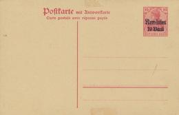 Deutsche Militärverwaltung In Rumänien Ganzsache P6 F/A * - Besetzungen 1914-18