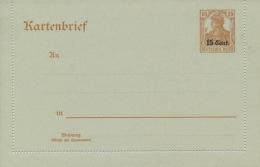 Etappengebiet West Ganzsache K1 * - Besetzungen 1914-18