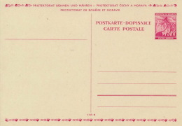 Böhmen Und Mähren Ganzsache P3 * - Boemia E Moravia