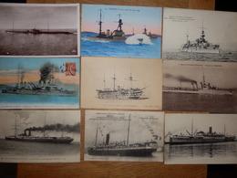 (22)    Lot De 9  Cartes De Bâteaux - Ships