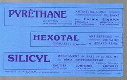 Paris  Boulevard Malesherbes : Buvard PYRETHANE HEXOTAL SILICYL   (pharmacie) (PPP9211) - Chemist's