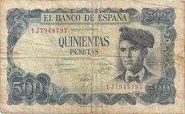 Espagne 500 Pesetas 1971 - [ 3] 1936-1975 : Régence De Franco