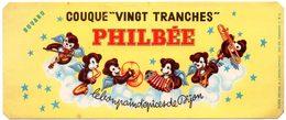Buvard Pain D'épices Philbée, Philbée Couque 20 Tranches. - Pain D'épices