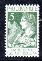 241/1500 - SVIZZERA 1913 , Pro Juventute Unificato N. 137  ***  MNH - Svizzera