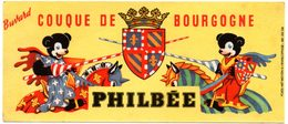 Buvard Pain D'épices Philbée, Philbée Couque De Bourgogne. - Pain D'épices