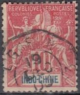 Indochine 1889-1908 - N° 18 (YT) N° 18 (AM) Oblitération Maritime De La Ligne N. - Indochine (1889-1945)