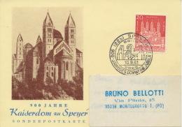 BRD 366 Auf Portogerechtem Auslandskarte - BRD