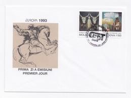 ENVELOPPE PREMIER JOUR DU 29/12/1993 - EUROPA - ART CONTEMPORAIN - Moldavie