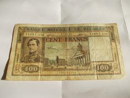 Billet Belgique 100 Francs 1949 Portrait Leopold - Belgio