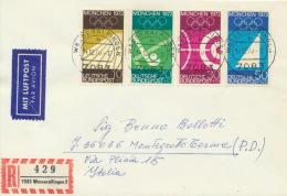 BRD 587/90 Auf Luftpost-R-Brief - BRD