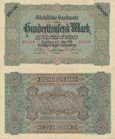 Hunderttausend Mark 1923 Sächsische Bank Nr. SAX15 III - 1918-1933: Weimarer Republik