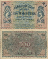 Fünfhundert Mark 1922 Sächsische Bank Nr. SAX10a Serie II   III - 1918-1933: Weimarer Republik