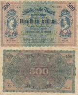 Fünfhundert Mark 1922 Sächsische Bank Nr. SAX10a Serie III   III - 1918-1933: Weimarer Republik