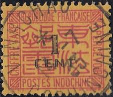 Indochine Province De La Cochinchine - Vinhchau Sur Timbre-taxe N° 60 (YT) N° 59 (AM). Oblitération. - Indochine (1889-1945)
