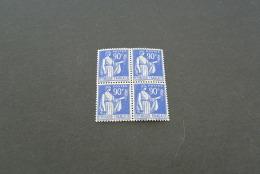 FR680- Bloc De 4  MNH  France 1937 -SC. 276- YV. 368-  Paix - 90c  Ultra - 1932-39 Paix