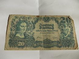 Billet Autriche 20 Shilling 1945 - Austria
