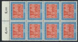 BRD 8x312 Oberrandblock ** Postfrisch - BRD