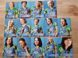 AA Drink - Leontien.nl Women - Ladies - Cycling - Cyclisme - 2011 - 14 Cards - Wielrennen