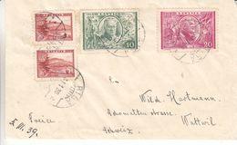 Lettonie - Lettre De 1939 - Oblit Riga - Exp Vers Wattwil - Avec Vignette - Latvia