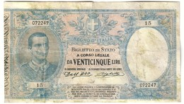 Italy 25 Lire 1902 Riproduzione Volutamente Invecchiata - Reproduction - 25 Lire