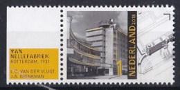 Nederland - 17 September 2018 - Architectuur Nieuwe Bouwen - Van Nellefabriek - Rotterdam 1931 - MNH - Monumenten