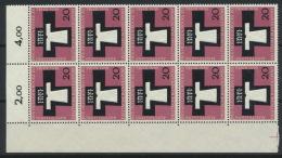 BRD 10x313 Eckrandblock ** Postfrisch - BRD