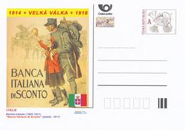 """Rep. Ceca / Cart. Postali (Pre2014/22) Grande Guerra (WWI) 02 Italy: Enrico Lionne """"Banca Italiana Di Sconto"""" - Professioni"""