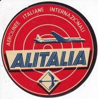 ANTIGUA ETIQUETA DE LA COMPAÑIA AEREA ALITALIA (AVION-PLANE) - Étiquettes à Bagages
