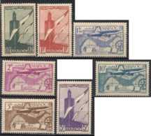 Maroc Protectorat Français - Poste Aérienne N° 43 à 49 Neuf *. - Maroc (1891-1956)