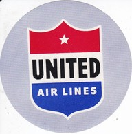 ANTIGUA ETIQUETA DE LA COMPAÑIA AEREA UNITED AIR LINES (AVION-PLANE) - Etiquetas De Equipaje