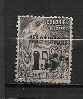 Colonie Martinique Timbres De 1888/91 N°17 Oblitéré Cote 25€ - Martinique (1886-1947)