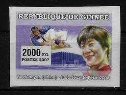 GUINEE  N° ( 2007 ) * * NON DENTELE  Jo 2008 Judo - Judo