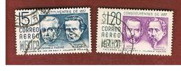 MESSICO (MEXICO) -  SG 949.950   - 1956 CENTENARY  CONSTITUTION  1857  -  USED° - Messico
