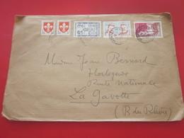 1959 Lettre Aff. Composé Timbres 2é échelon  Période Moderne Europe  France  Marcophilie Pr La Gavotte - Marcophilie (Lettres)