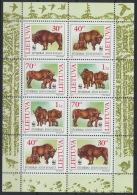 Litauen 599/602 Kleinbogen ** Postfrisch - Lithuania